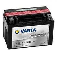 YTX9-BS VARTA FUN Мото аккумулятор 8 А/ч, 135 А, (+/-), 152х82х106 мм
