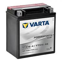VARTA 514902022A514 - YTX16-BS / YTX16-4 Мото аккумулятор 14 А/ч, 210 А, (+/-), 150х87х161 мм