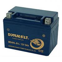 DYNAVOLT MG4HL-B-L Мото аккумулятор 5 А/ч, 70 А, 120х71х91 мм
