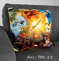 Подарочная детская подушка-мультяшки с 3-д рисунком. Подарок для ребенка