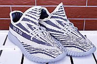 Кроссовки мужские для бега Adidas Yeezy Boost 350 sply grey (реплика), фото 1
