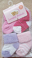 Набор носков 4 штук для девочки 0-3 мес Luvable Friends из Сша