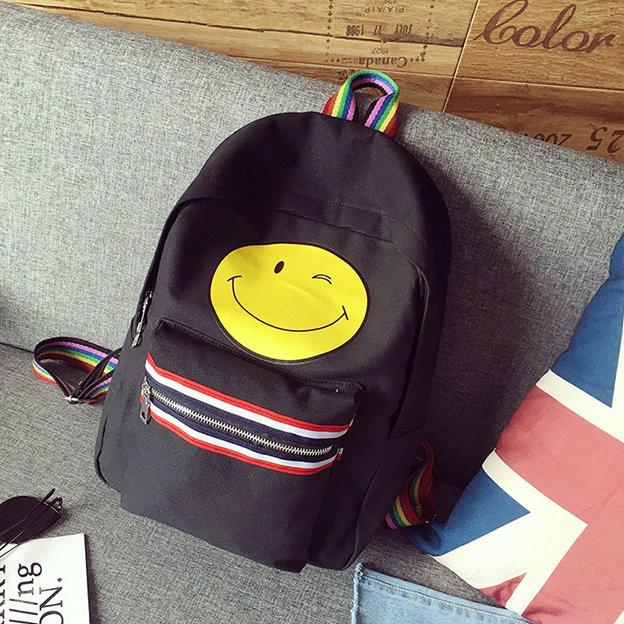 Городской рюкзак с рисунком смайла