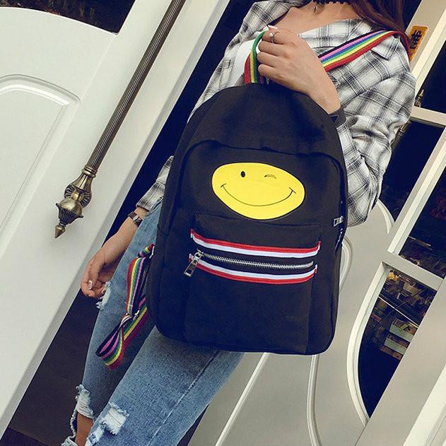 Молодежный рюкзак с рисунком смайла