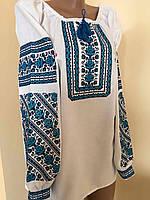 Сорочка вишита жіноча хрестиком на домотканому полотні 48-50, фото 1