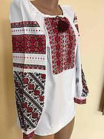 Сорочка вишита жіноча хрестиком на домотканому полотні, фото 1