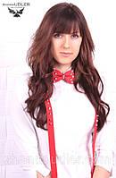 Набор с шипами: галстук-бабочка и подтяжка., фото 1