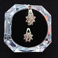Серьги с камнями серебро 925*