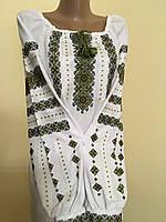 Сорочка вишита жіноча хрестиком на домотканому полотні 48 розмір, фото 1