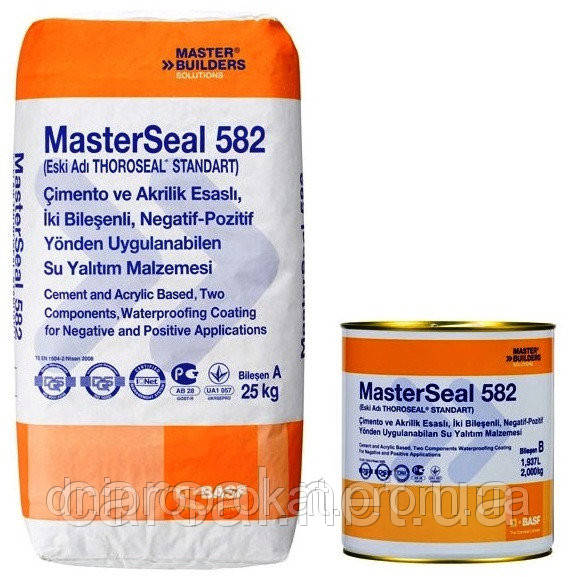 Цемент-акриловая гидроизоляция Masterseal 582