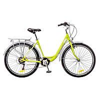 "Велосипед 26"" Optimabikes VISION 14G Vbr Al с багажн. зеленo-белый  (м) 2016"