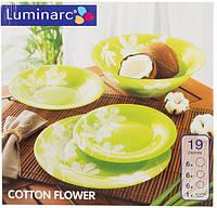 Столовый сервиз на 19 предметов Luminarc Cotton Flower