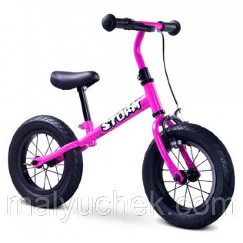 """Беговел дитячий Caretero Storm (purple), 12"""" надувні колеса, сталева рама"""