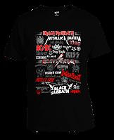 Футболка Heavy Metal Bands Logo
