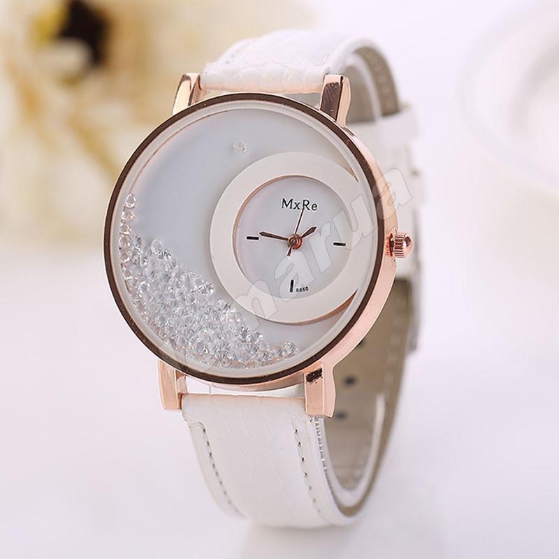 Женские кварцевые часы MxRe White