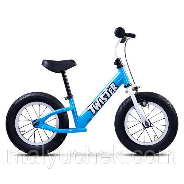 Беговел Caretero Twister (Blue) надувные колёса 12д