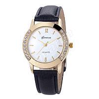 Женские часы Geneva diamond Black