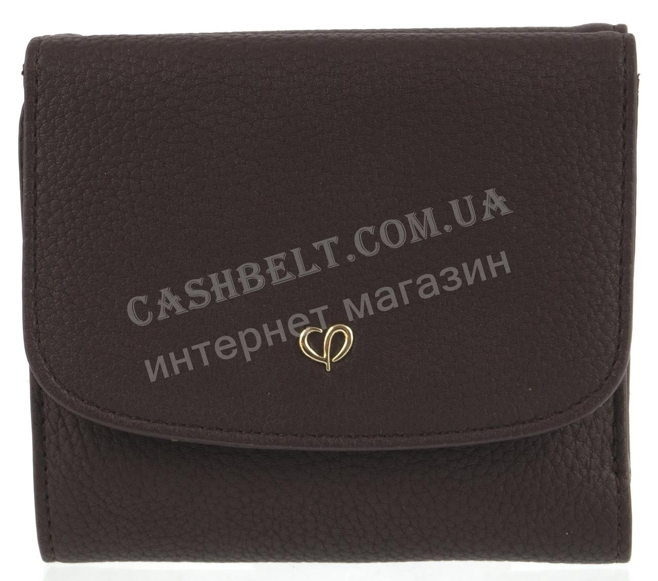 Компактный интересный оригинальный удобный женский кошелек высокого качества SACRED art. J-6188-B коричневый