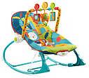 Дитяче крісло качалка шезлонг Сафарі Fisher Price Dark Safari, фото 2