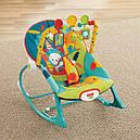 Дитяче крісло качалка шезлонг Сафарі Fisher Price Dark Safari, фото 4