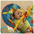 Дитяче крісло качалка шезлонг Сафарі Fisher Price Dark Safari, фото 6