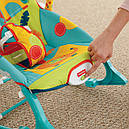Дитяче крісло качалка шезлонг Сафарі Fisher Price Dark Safari, фото 8