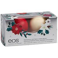 Лимитированный набор / бальзамы для губ (зимняя ягода + ваниль) EOS