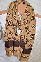 Легкий палантин шарф платок Louis Vuitton стильный аксессуар