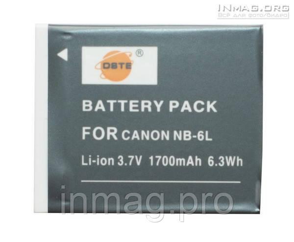 Аккумулятор для фотоаппарата Canon NB-6L (NB-6LH), 1700 mAh.