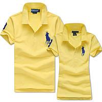 В стиле Ральф лорен поло 100% хлопок женская мужская футболка поло ральф лорен ралф, фото 1