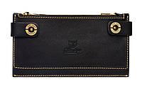 Стильний шкіряний гаманець Twin black