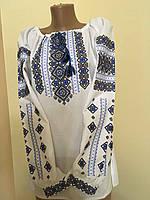 Сорочка вишита жіноча з геометричним орнаментом, фото 1