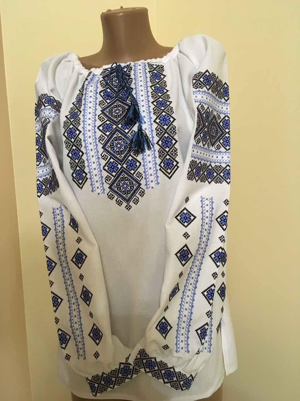Сорочка вишита жіноча з геометричним орнаментом  продажа 96fc2990c51bf
