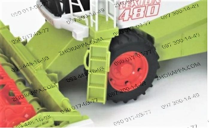 Комбайн M 1106 U/R, инерционный, подвижные детали, съемная косилка, тележка, в слюде 41,5*20*25 см , фото 2