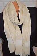 Шарф палантин в стиле Louis Vuitton (Луи Витон) бежевый