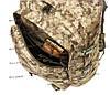 Тактический походный супер-крепкий рюкзак с органайзером 40 литров пиксель. Армия, спорт, туризм, рыбалка, фото 7