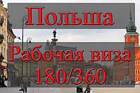 Рабочая виза кат. D 180/360