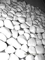Мраморная галька белая Румыния грунт для аквариумов, для ландшафтного дизайна, для отделки стен