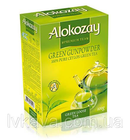 Чай зеленый  с лепестками жасмина  Alokozay , 100 гр, фото 2