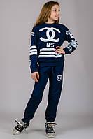033037 - Детский спортивный костюм для девочек CoCo №5 (темно-синий)