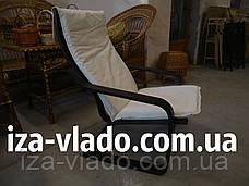 Кресло-лягушка (пружина) шоколадного цвета с белым чехлом, фото 3