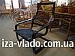Кресло-лягушка (пружина) шоколадного цвета с белым чехлом, фото 6