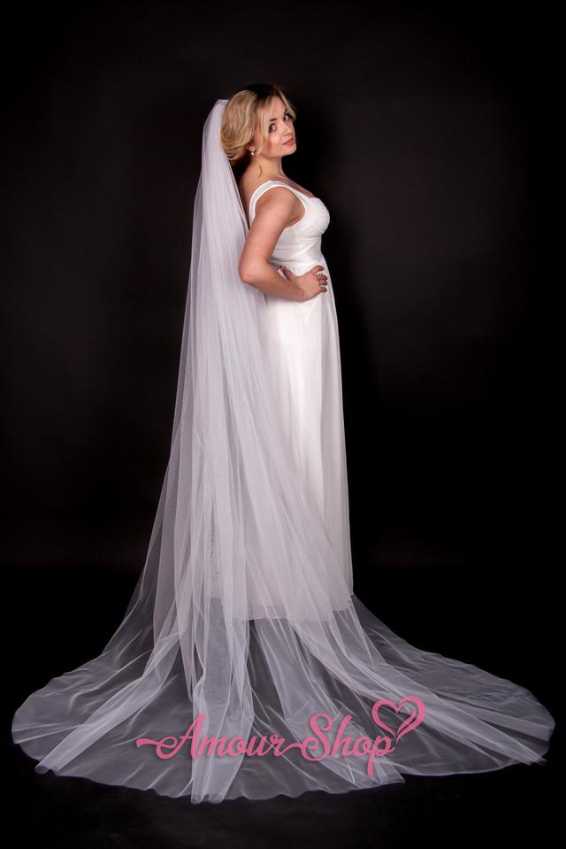 Очень длинная фата невесты Киев