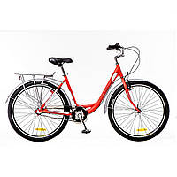 "Велосипед 26"" Optimabikes VISION 14G планет. Al с багажн. красно-белый (м) 2016"