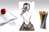 Силиконовый чехол бампер для Sony Xperia C C2305 S39h с картинкой девушка спиной