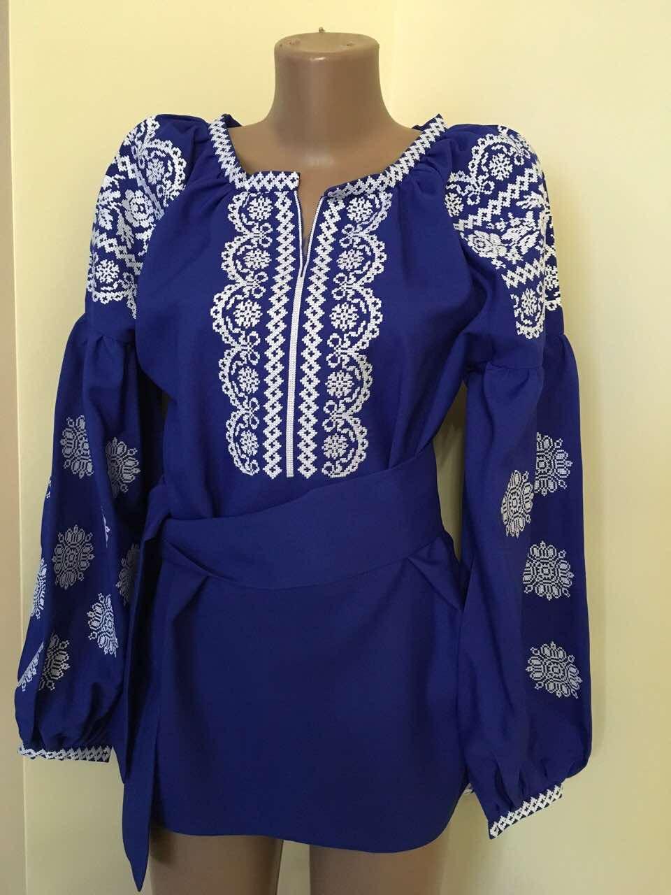 Вишиванка синя на габардині в стилі Бохо  продажа a40fe7ce20857