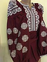 Вишиванка жіноча на габардині в стилі Бохо, фото 1