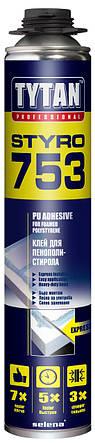 Клей-пена монтажная Tytan Styro753 для пенопласта и екструдированного пенополистирола XPS