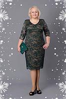 Красивое гипюровое женское платье увеличенных размеров