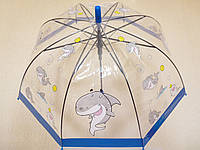 Зонт детский прозрачный, 4 расцветки